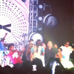 Santigold invited superfans to the stage for a quick dance party