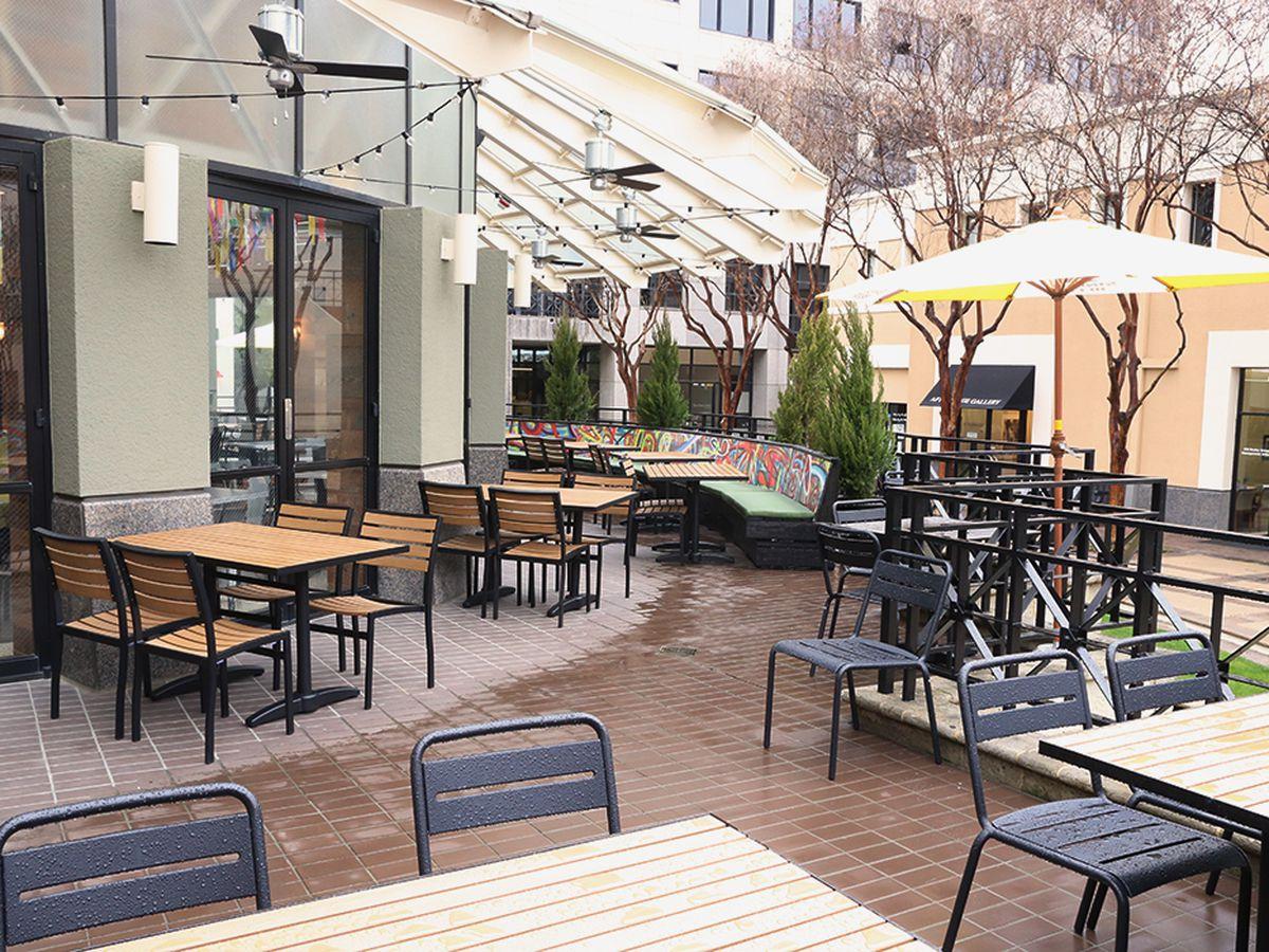 sunshine and cool breezes on the patio at new crushcraft thai photo garrett halledfw - Thai Patio