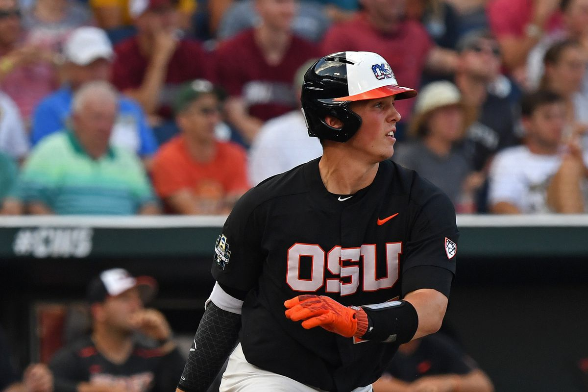 College World Series - Arkansas v Oregon State - Game One