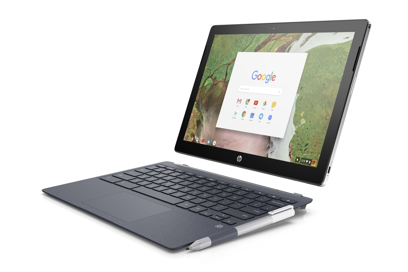 hp goes up against the ipad pro with its 599 chromebook x2