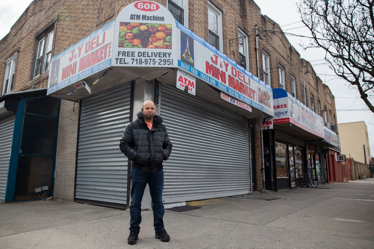 Julio Baez said he was forced to shutter his East New York market after falling behind on loan payments.