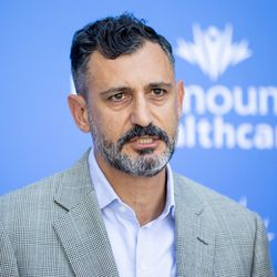 Tammer Attallah, Executive Clinical Director of Intermountain Healthcare's Behavioral Health Clinical Program, speaks at the Intermountain Healthcare Transformation Center in Murray on Friday, July 2, 2021.