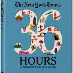 """Take a vacation from technology and cuddle up with a good ol' fashioned book. <em><a href=""""http://www.anthropologie.com/anthro/catalog/productdetail.jsp?pageName=The+New+York+Times+36+Hours%3A+150+Weekends+In+The+USA+and+Canada&catId=HOME-BOOKS&id=2380615"""
