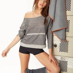 Slouchy Pullover, $76; Basic Yoga Short, $53