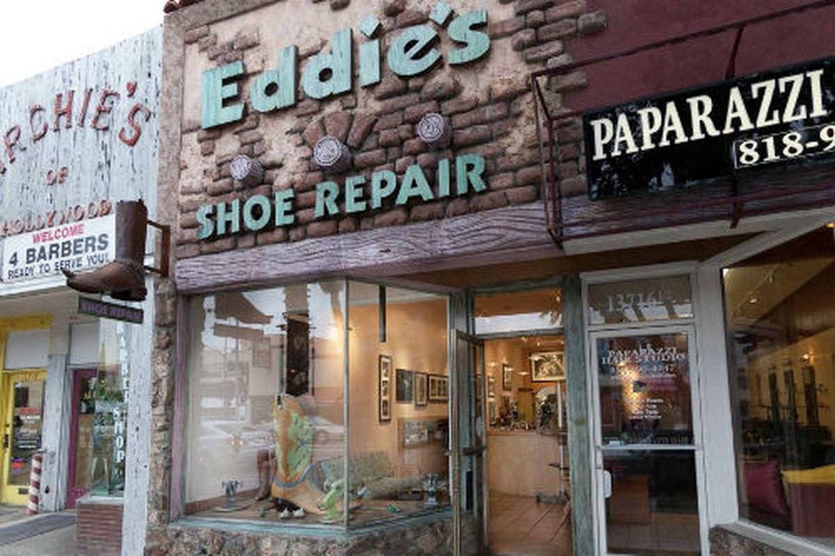 """Eddie's Shoe Repair in Sherman Oaks. Image via <a href=""""https://www.facebook.com/EddiesShoeRepairShermanOaks"""">Facebook</a>"""
