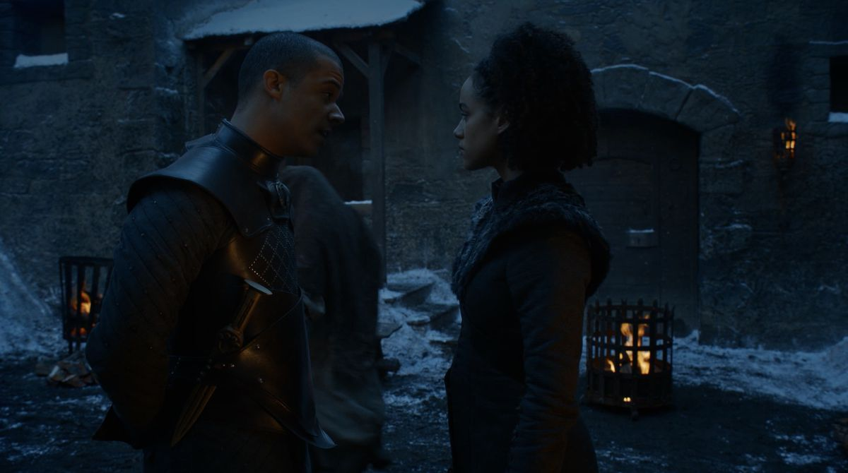 Game of Thrones S08E02 Grey Worm and Missandei