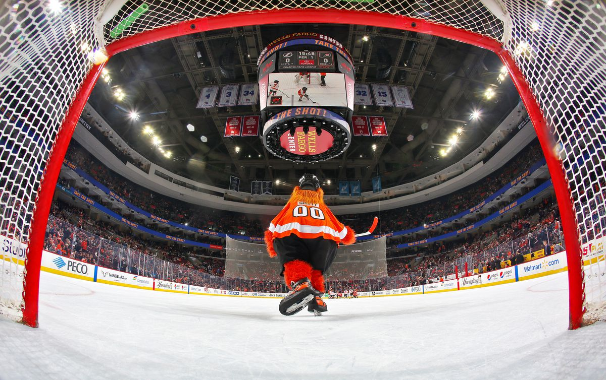 Farewell to Gritty — but only for now. NHLI via Getty Images ed49f4e5d