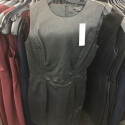 Leather dress, size 6, $369 (was $1,125)