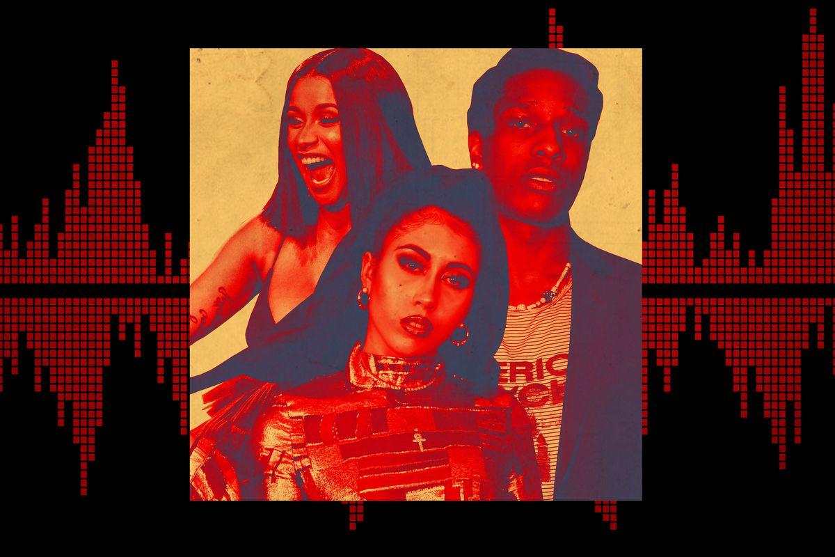 Cardi B, Kali Uchis, and A$AP Rocky