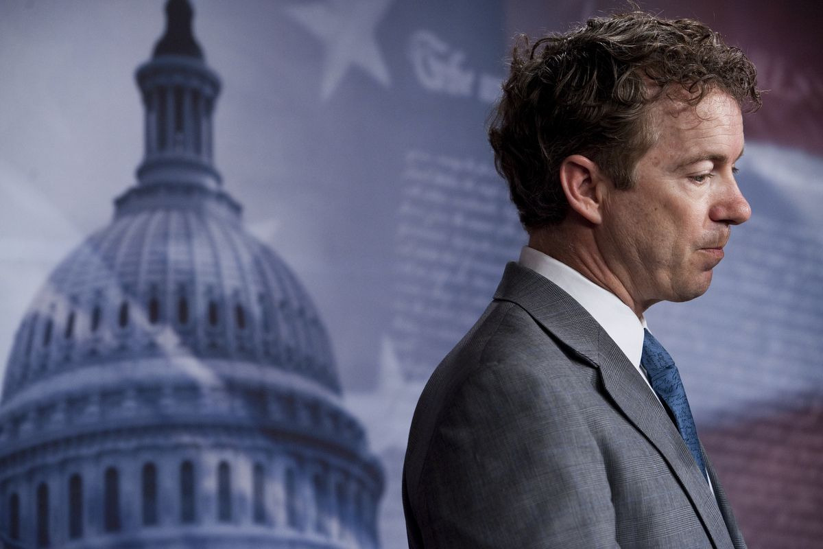 Rand Paul participates in a news conference on the federal budget on Thursday, March 17, 2011.