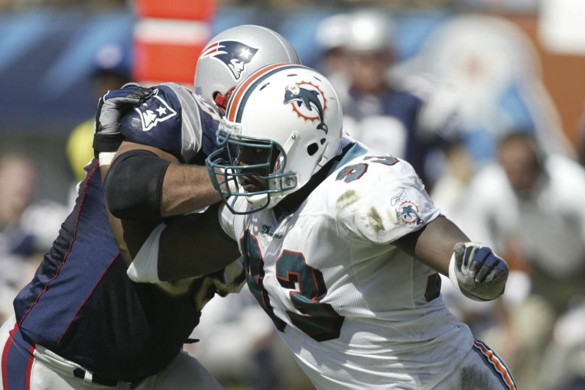 Defensive end Adewale Ogunleye wore number 93 for the Miami Dolphins from 2002 to 2003. The team announced today that defensive tackle Ndamukong Suh would wear the number in 2015.