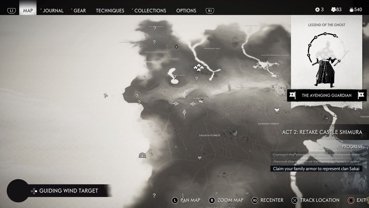 Izuhara undiscovered locations map Ghost of Tsushima