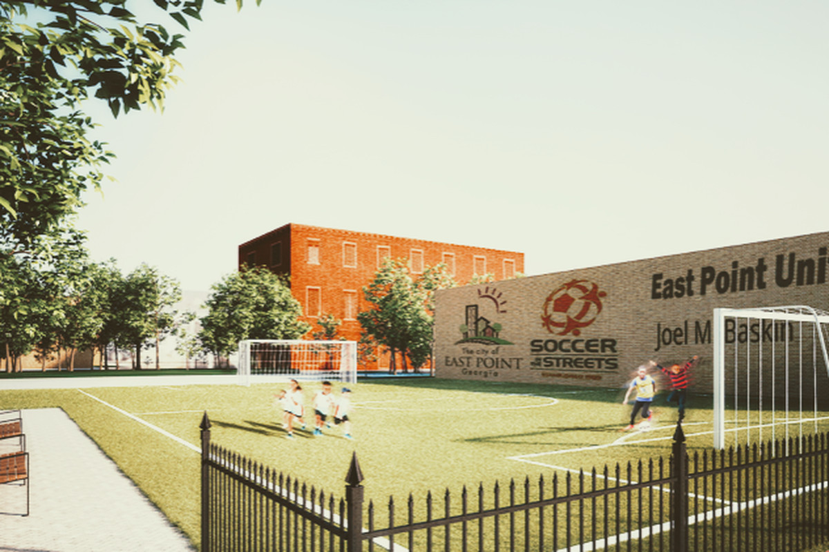 Plans for Atlanta's next pitch beside mass transit.