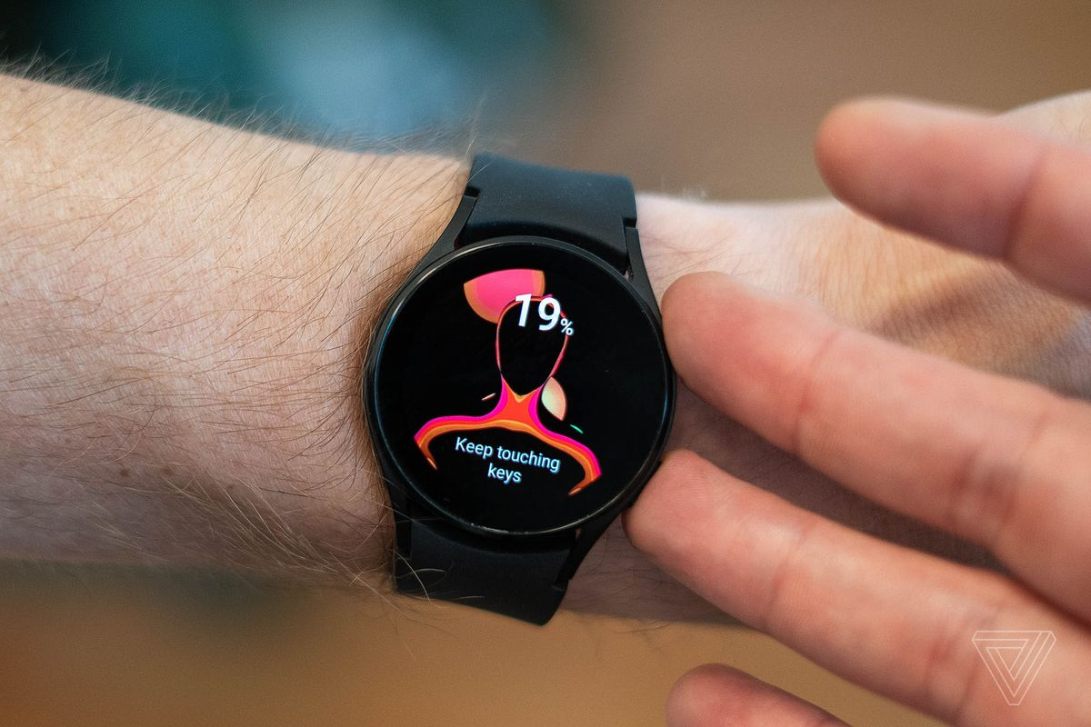 The Galaxy Watch 4 has a sensor for measuring body fat percentages