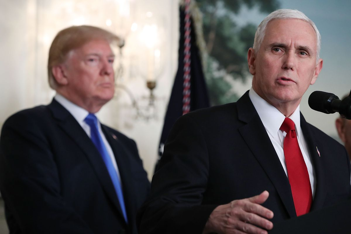 Vice President Mike Pence with President Donald Trump