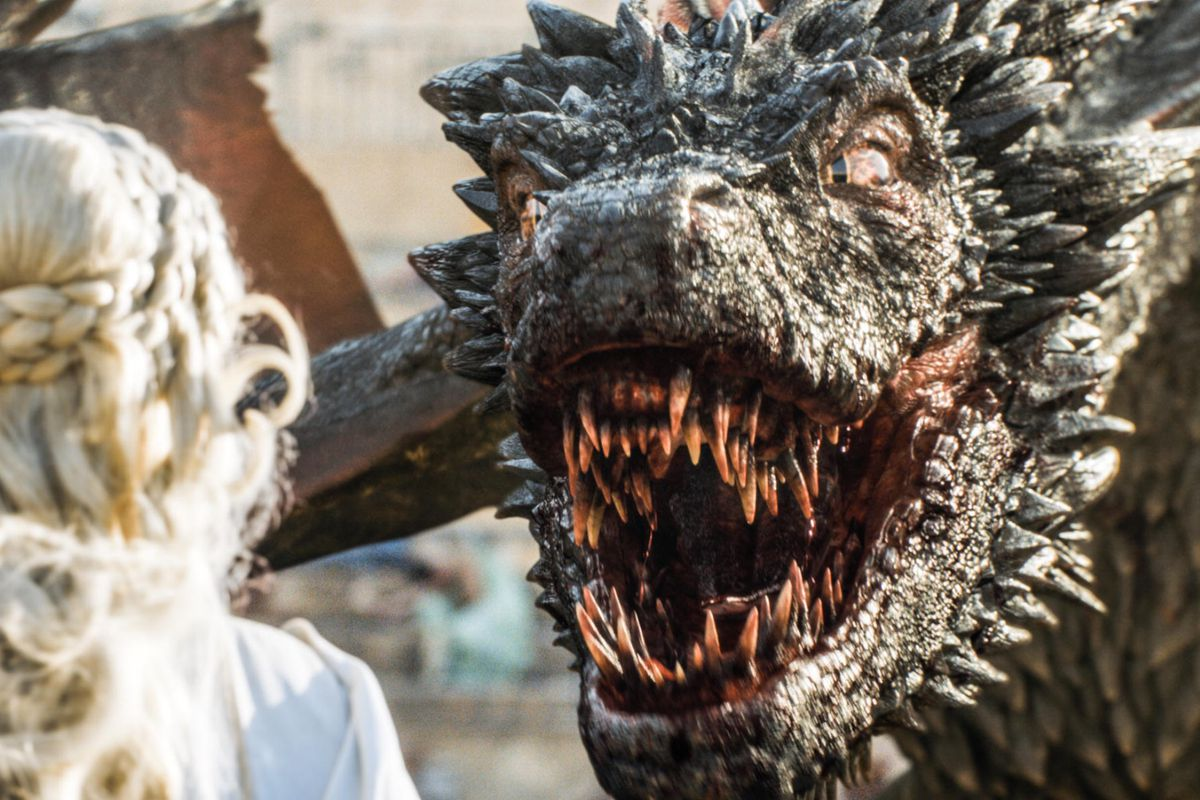 Dany and Drogon have a moment.