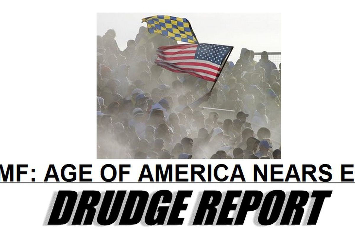 Drudge Report uses picture of the River End as front page photo.