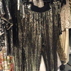 Sequin pants, $110