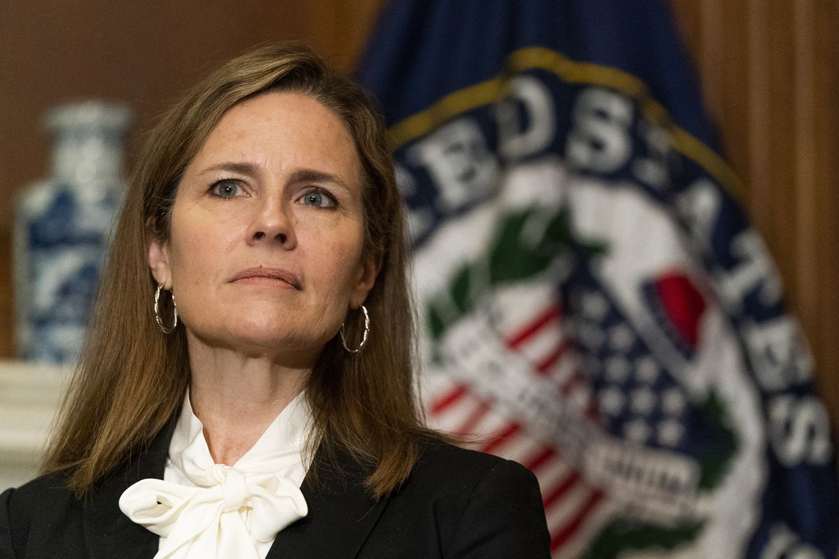 Supreme Court nominee Judge Amy Coney Barrett, pictured Oct. 1.