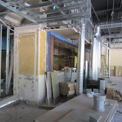 Here's where the open kitchen will one day be.
