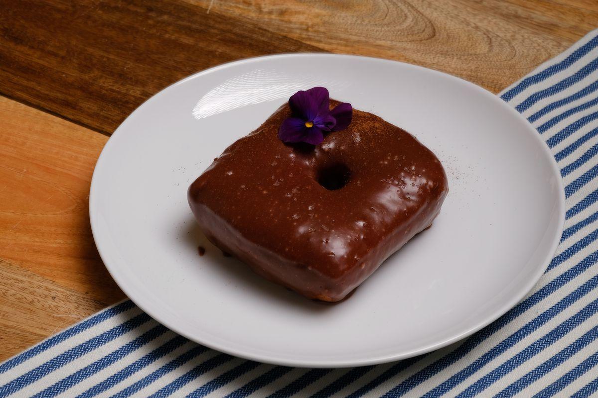 An Abuelita's Chocolate doughnut from Doña Dona