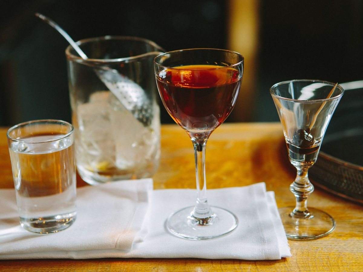 A cocktail at Drink