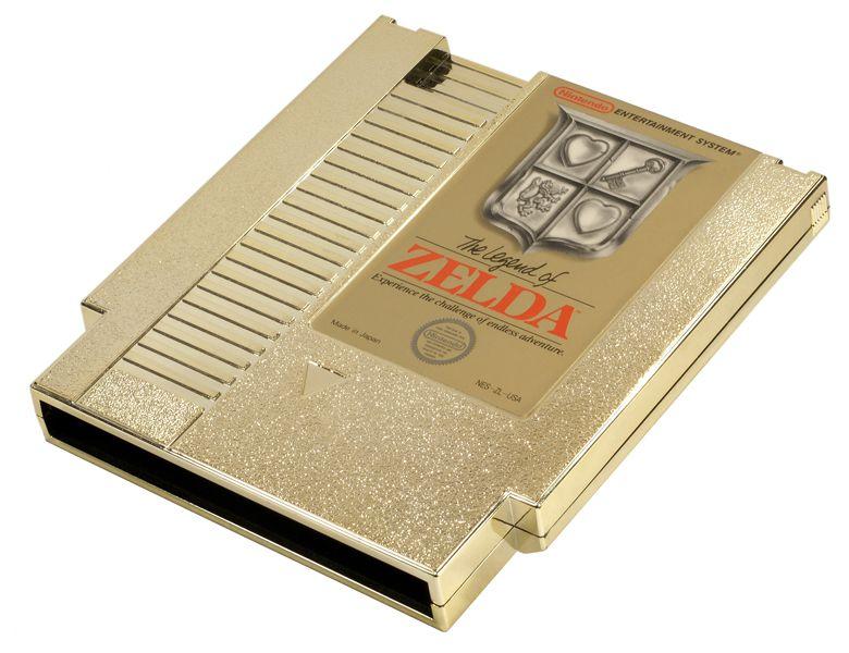 The Legend of Zelda's original golden cartridge.