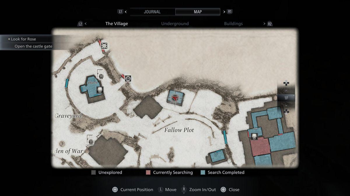 Resident Evil Village map of Fallow Plot
