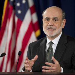 Federal Reserve Chairman Ben Bernanke speaks during a news conference in Washington, Thursday, Sept. 13, 2012, following the Federal Open Market Committee meeting to present the FOMC's current economic projections and to provide additional context for the FOMC's policy decision.
