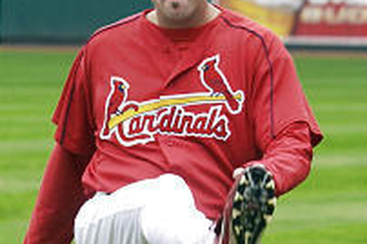 St. Louis Cardinals pitcher Matt Morris, shown stretching Tuesday, will start Game 6 of the NLCS Wednesday against the Houston Astros.