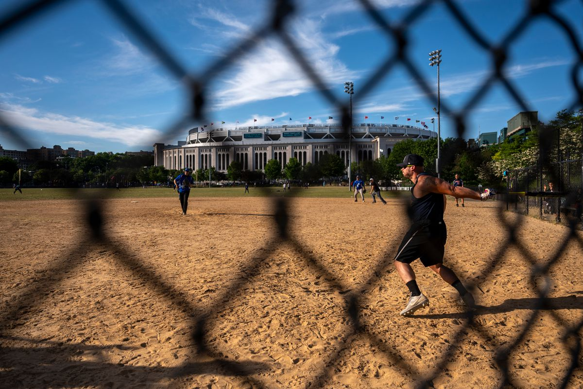 Amateur players enjoyed a maskless game while the Bronx Bombers took part in a double header, May. 27, 2021.