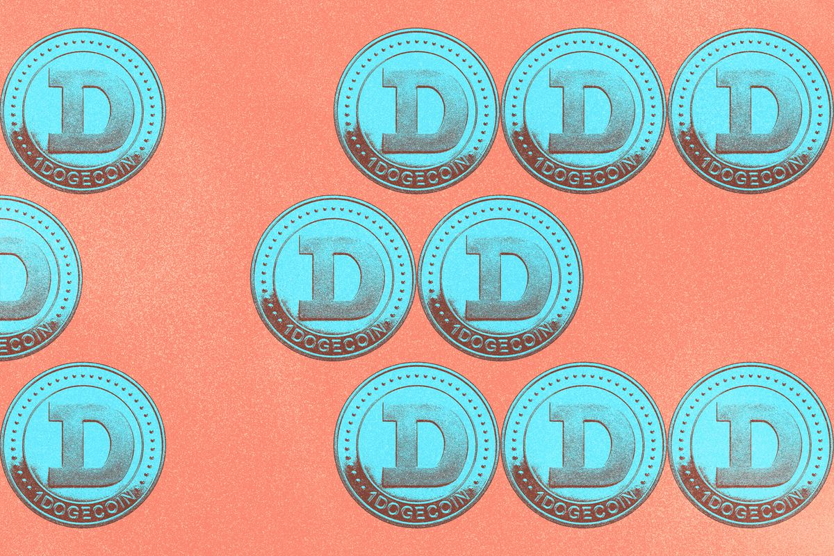 """Coins with the letter """"D"""" on it to represent dogecoins."""