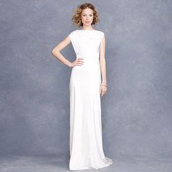 """<a href=""""http://www.jcrew.com/wedding/Wedding_Bride/gowns/PRDOVR~77762/77762.jsp """"> Corinna gown</a>, $495 at jcrew.com"""