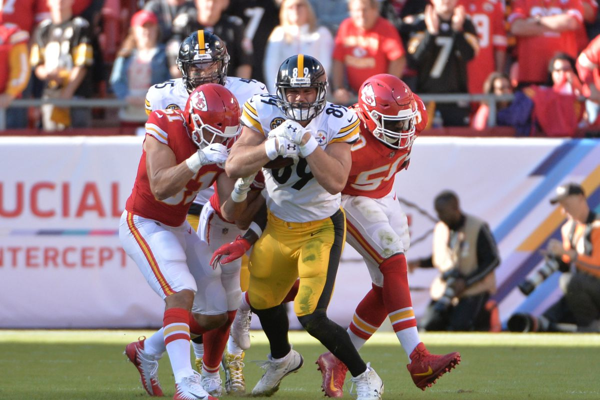 save off bc155 b580d Steelers News: Vance McDonald gets crash course on Heath ...