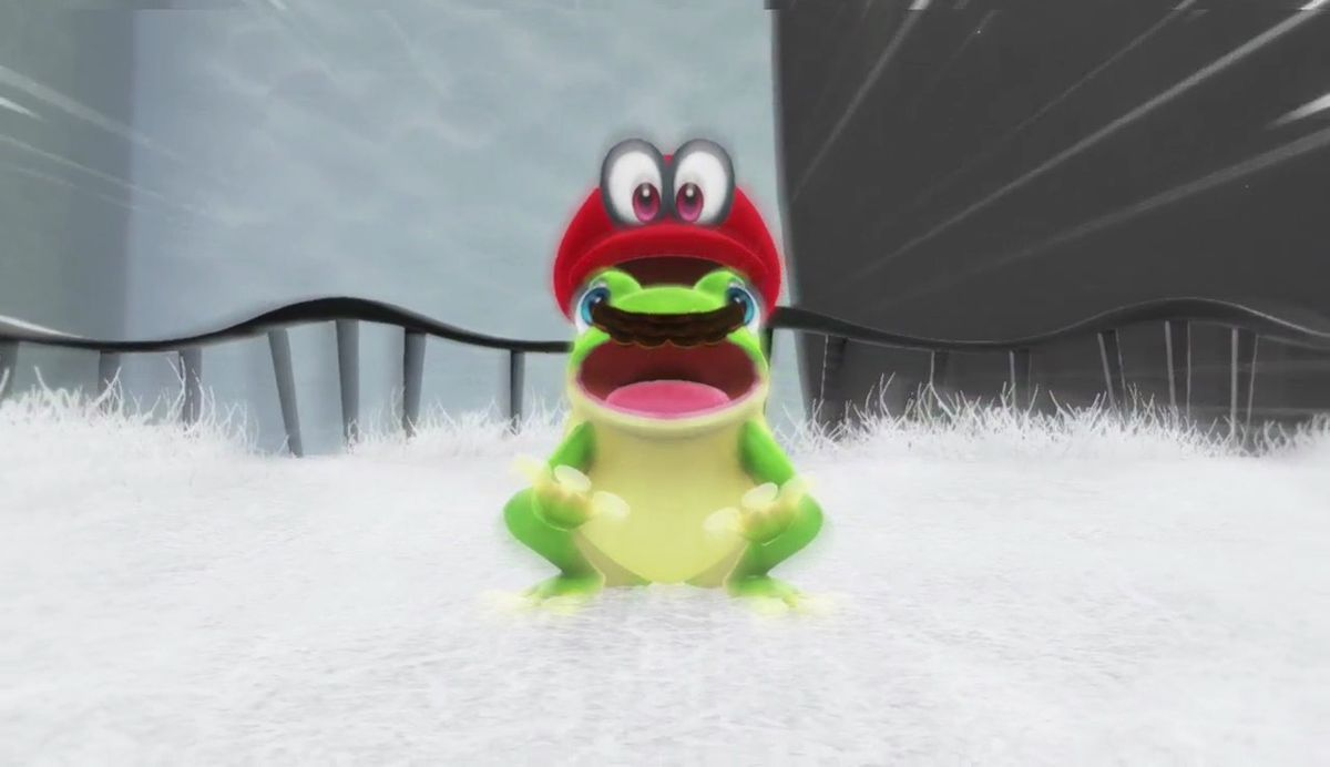 super mario odyssey - mario as a frog