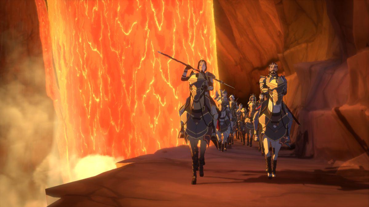 The Dragon Prince - General Amaya at the Breach.