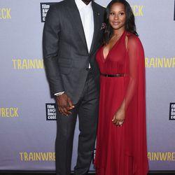 ab6375040991 LeBron James and Savannah Brinson at the New York premiere of  i Trainwreck