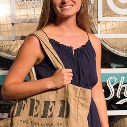 Lauren Bush Lauren and a FEED bag