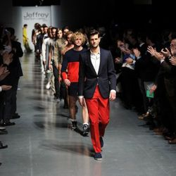 The final runway walk at the 8th annual Jeffrey Fashion Cares on the Intrepid Aircraft Carrier on March 28, 2011 in New York City.