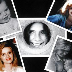 """A collage of pictures shows Michele MacNeill throughout her life. Michele died on April 11, 2007, from natural causes. However, the manner of death has recently been changed to """"undetermined"""" and """"suspicious."""""""