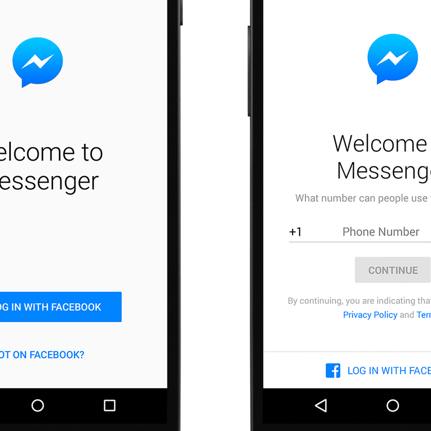 Now you can sign up for Facebook Messenger without a