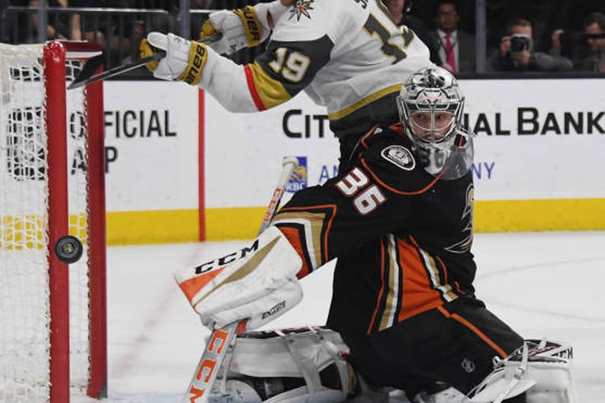 6acb170f2 Ducks vs Golden Knights PREVIEW  Can Gibby right the tank  - Anaheim ...