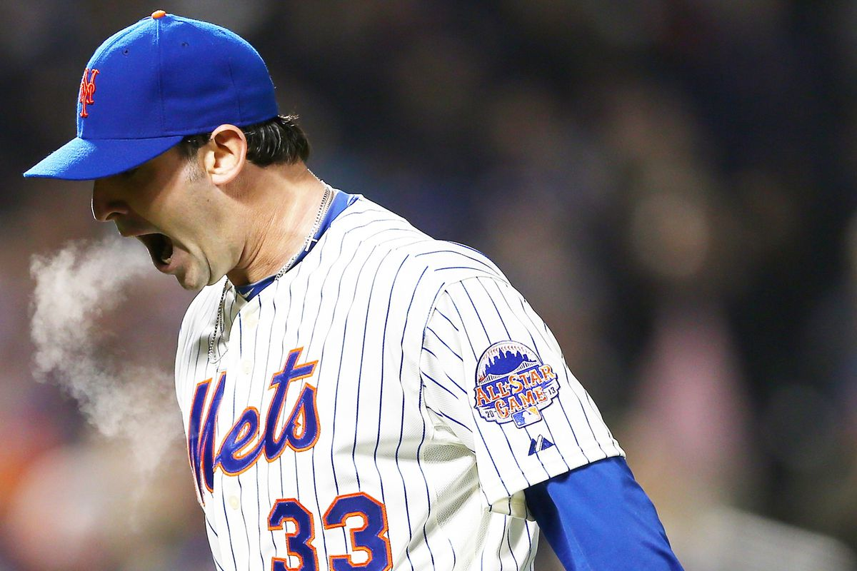 I'm no Mets fan, but this picture is too cool to pass up. Matt Harvey go!