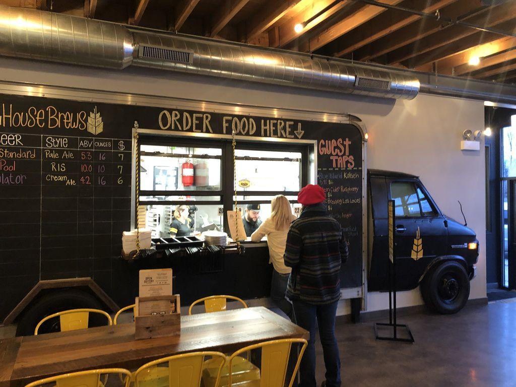 The food counter at Open Outcry Brewing Co.   Ji Suk Yi/Sun-Times