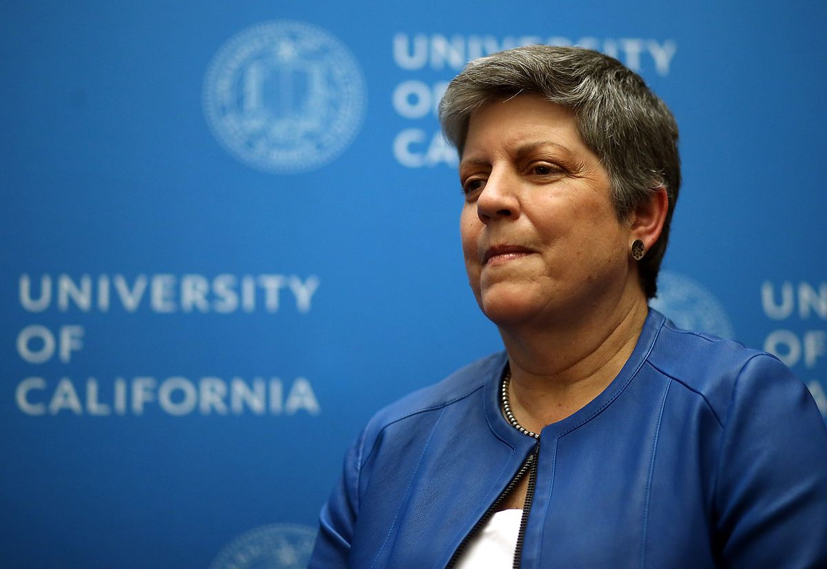 """Janet Napolitano, president of the UC system, has agreed to subsidize security for """"Free Speech Week"""" — possibly to reduce the chances of a lawsuit."""