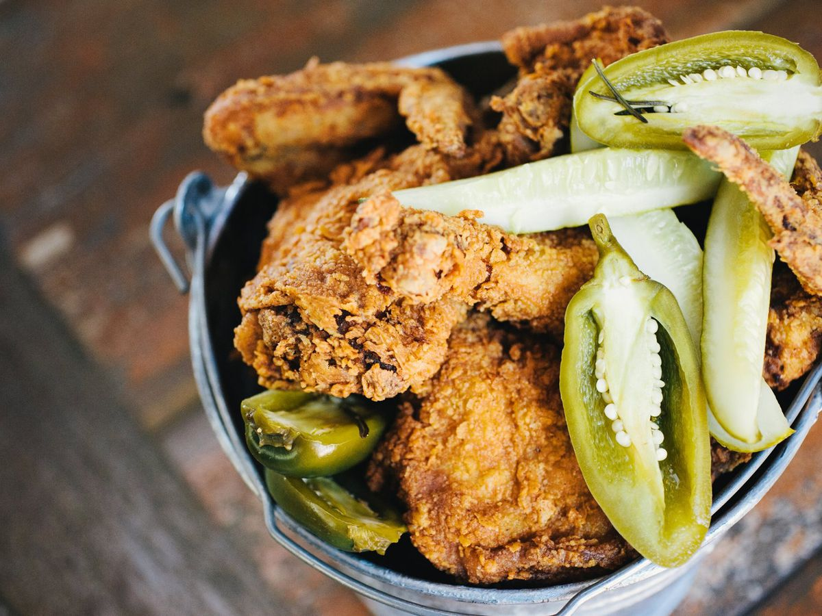 Fried chicken bucket from Lucy's