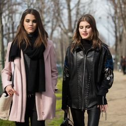Models' take on chic outerwear.