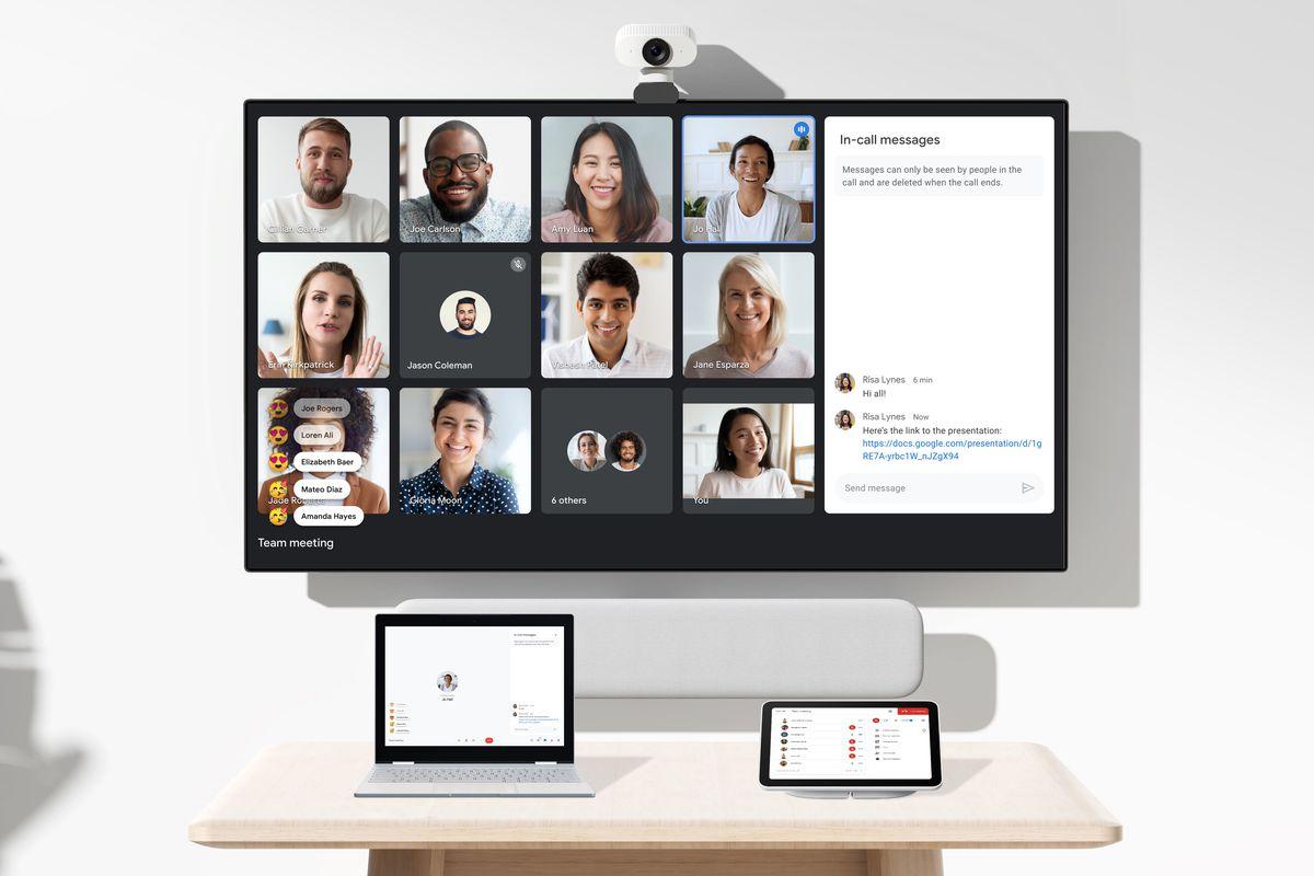 Second screen in Google Meet