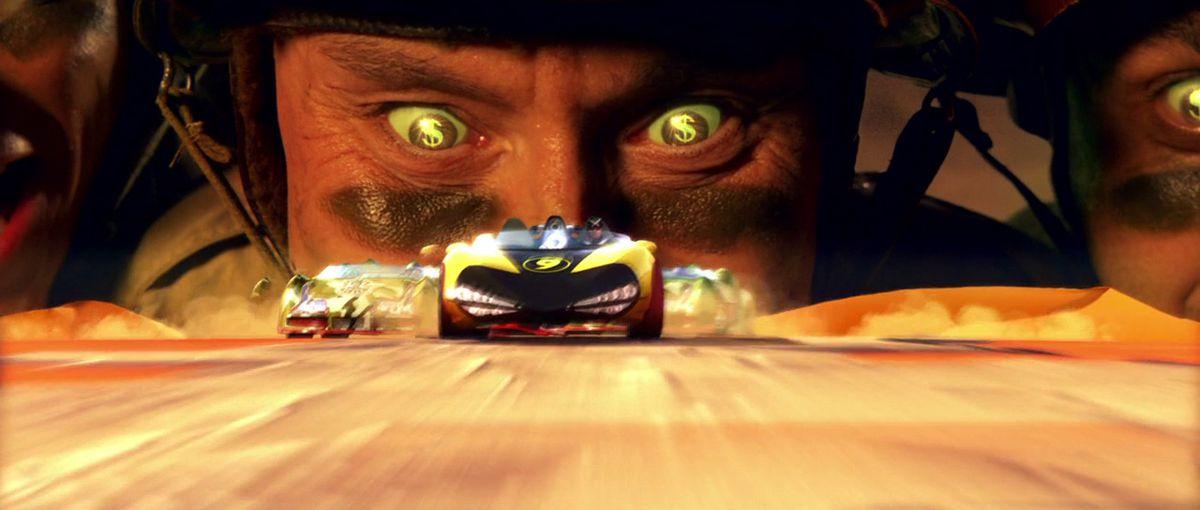 Snake Oil looks over Speed Racer