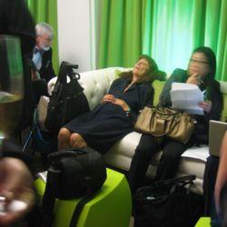 The media room put some to sleep